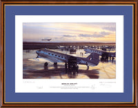 200383 - Berlin Airlift - Framed RAF Art Print Ltd Edition of 750 only Signed by Artist + 3 x Pilots - Treasure TV