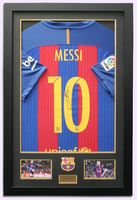 200109 - Lionel Messi Framed & Mounted Barcelona FC Shirt Personally Signed - Treasure TV