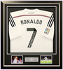 200110 - Cristiano Ronaldo Framed & Mounted Real Madrid Shirt Personally Signed