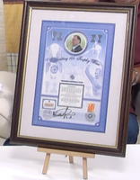 200112 - Glasgow Rangers Framed & Mounted 100 Trophies Commemorative Cover Personally Signed - Treasure TV