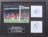 200132 - Teddy Sheringham & Ole Solsjkaer Framed & Mounted Photo Montage & Pers Signed by Both - Treasure TV