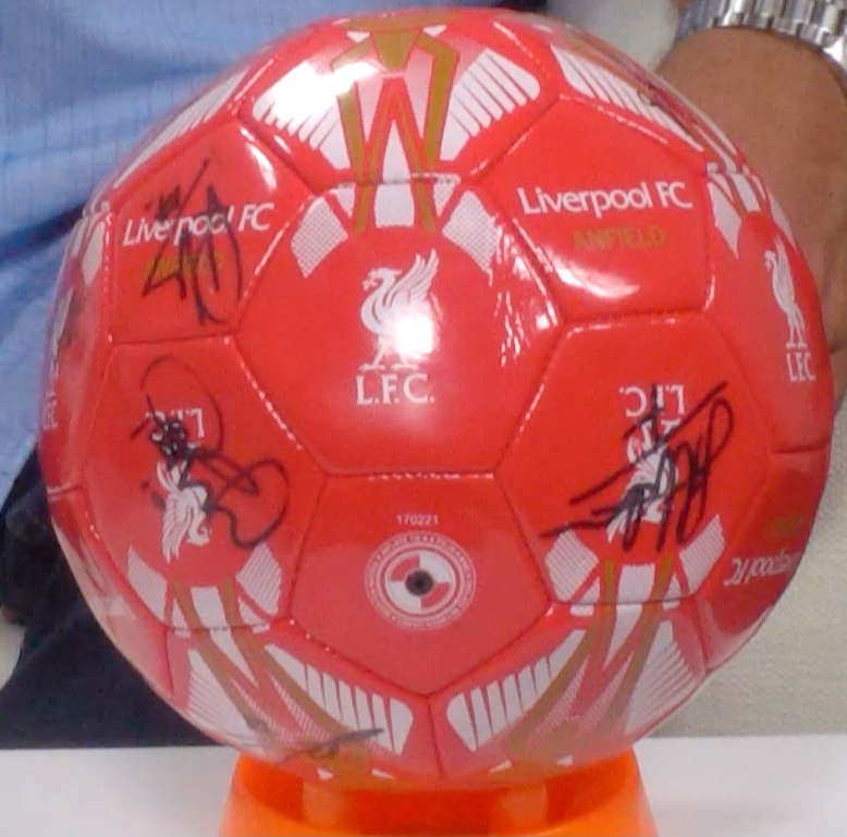 200133 - Liverpool FC Footnball Multi Signed by the Players - Treasure TV