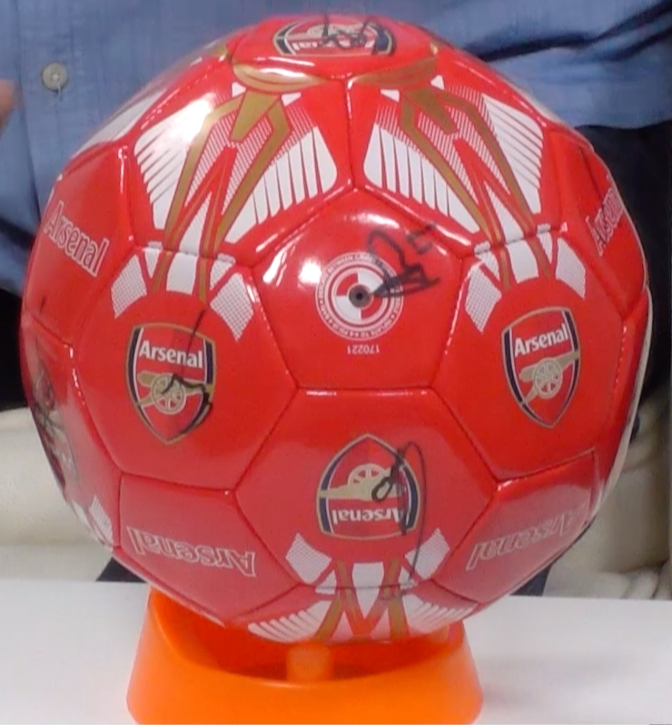 200135 - Arsenal FC Football Multi Signed by the Players - Treasure TV