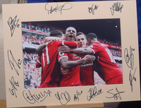 200386 - Liverpool FC Mounted Team Photo Mount Multi Signed by Players - Treasure TV