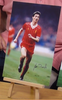 200389 - Ian Rush Large 16x12 Colour Photo in Liverpool FC kit Personally Signed