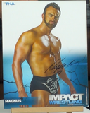 200241 - Magnus/ Nick Aldis Mounted Colour Photo Personally Signed - Treasure TV