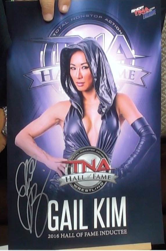 200242 - Gail Kim Mounted Colour Photo Personally Signed - Treasure TV