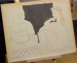 200277 - Picasso- The Human Comedy 1954 Rare Original Art Lithograph Ltd Edition - Treasure TV