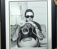 200227 - Johnny Cash - JJ Adams - Framed Rare Giclee Signed Art Print Ltd Edition of 95 only - Treasure TV