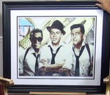 200228 -  Ratpack- JJ Adams - Framed Rare Giclee Signed Art Print Ltd Edition of 59 only - Treasure TV