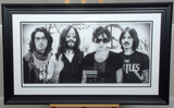 200229 - The Beatles- JJ Adams - Framed Rare Giclee Signed Art Print Limited Edition of 95 only - Treasure TV