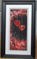 200230 - Love is the Key, Red - Kealey Farmer Rare Framed Art Print Ltd Edition of 45 only - Treasure TV