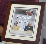200253 - The Two Ronnies Framed Comedy Stamps Print Ltd Edition. Personally Signed by Both - Treasure TV