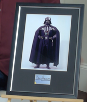 200257 - Star Wars- Darth Vader Framed Colour Photo Personally Signed by Dave Prowse - Treasure TV