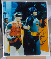 200261 - Batman & Robin Mounted Photo Personally Signed by Adam West & Burt Ward - Treasure TV