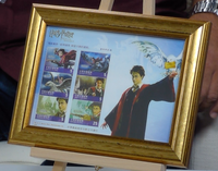 200262 - Harry Potter Framed Rare Chinese Stamps sheetlet - Treasure TV