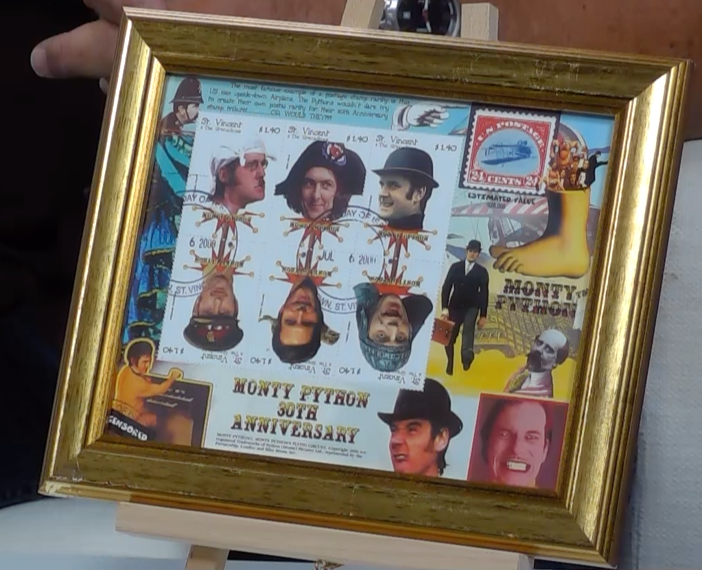 200264 - Monty Python Framed 30th Anniversary Stamps Art Print - Treasure TV
