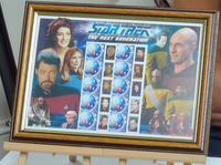 200265 - Star Trek - Next Generation Framed Rare Australia Stamps Sheetlet - Treasure TV