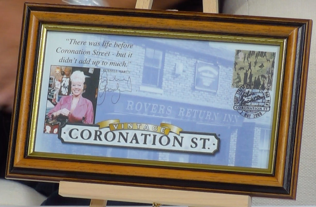 200266 - Coronation Street Framed Celebration Print Personally Signed by Julie Goodyear Ltd Edition - Treasure TV