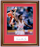 200357 - Sebastian Coe Framed & Mounted Colour Photo & Personal Signature - Treasure TV