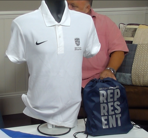 200359 - British Athletics Nike Polo Shirt + Flag + Bag All Sizes - Treasure TV