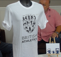 200360 - British Athletics T Shirt + 3 official Pin Badges - All Sizes - Treasure TV