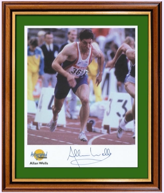 200366 - Alan Wells Framed Action Photo Personally Signed - Treasure TV