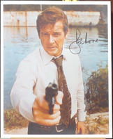 200207 - Roger Moore as James Bond 007 Mounted Photo Personally Signed - Treasure TV