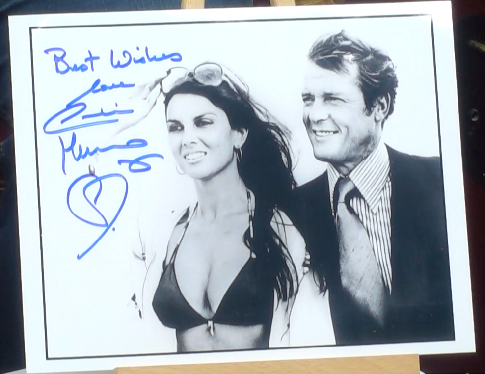200213 - Caroline Munro in James Bond Mounted Colur Photo Personally Signed - Treasure TV