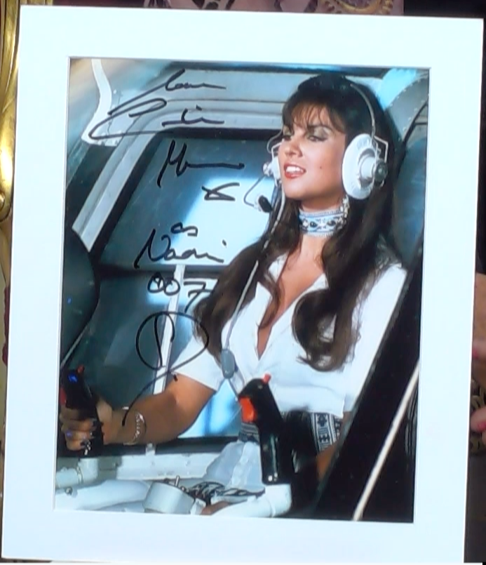 200214 - Caroline Munro as Naomi in 'Spy Who Loved Me' Colour Photo Personally Signed - Treasure TV