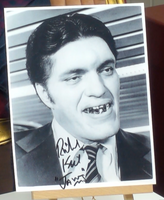 200217 - Richard Keil as Jaws Mounted Photo Personally Signed - Treasure TV