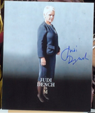 200221 - Judi Dench as M Mounted Photo Personallly Signed - Treasure TV