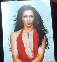 200373 - Famke Jansson in James Bond Mounted Photo Personally Signed - Treasure TV