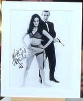 200224 - Martine Beswick in Thunderball Mounted Colour Photo Personally Signed - Treasure TV