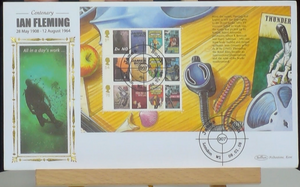 200226 - James Bond Mini Fim Posters Stamps sheetlet Commemorative cover - Treasure TV