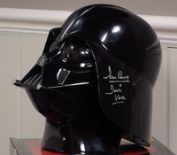 200324 - Darth Vader Helmet Personally Signed by Actor Dave Prowse - Treasure TV