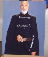200325 - Sir Christopher Lee in Star Wars Mounted Colour Photo Personally Signed - Treasure TV