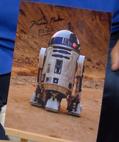 200329 - Kenny Baker as R2D2 Mounted Colour Photo Personally Signed - Treasure TV