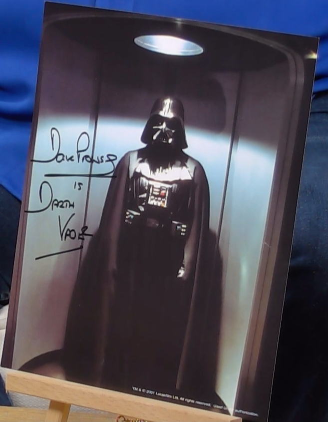 200331 - Dave Prowse as Darth Vader Mounted Photo Personally Signed - Treasure TV