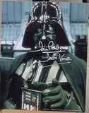 200332 - Dave Prowse as Darth Vader Head & Shoulders Mounted Photo Personally Signed - Treasure TV