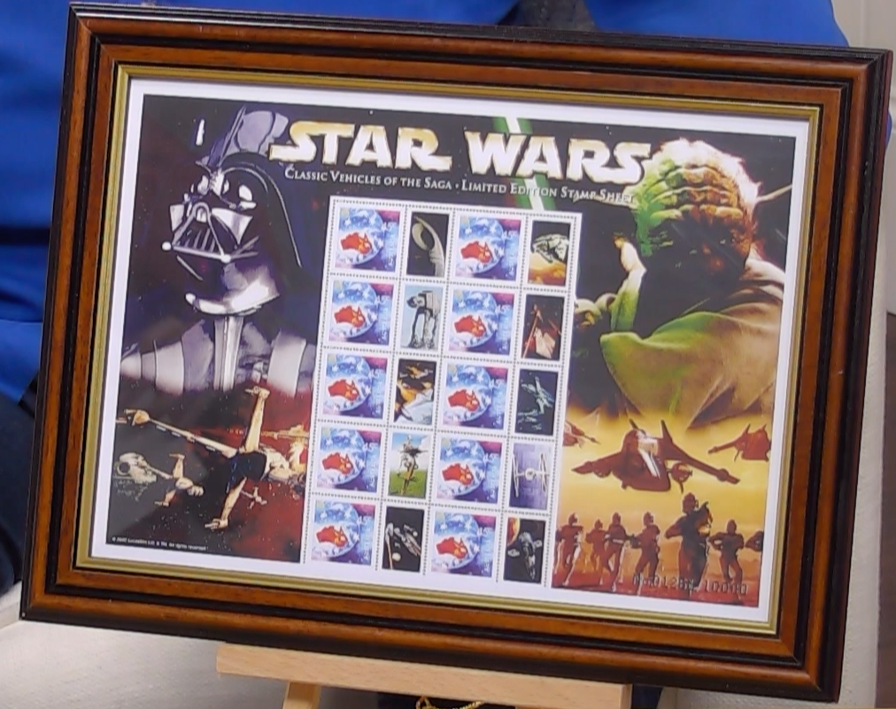 200334 - Star Wars Classic Vehicles of the Saga Framed  Australian Stamp Sheetlet limited Edition - Treasure TV