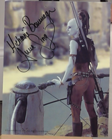 200338 - Michael Bouriage as Aura Sing in Star Wars Colour Photo Personally Signed - Treasure TV