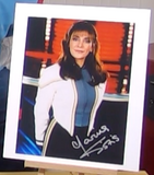 200341 - Marina Sirkis as Deanna Troi in Star Trek Next Generation Photo Personally Signed - Treasure TV