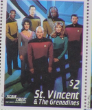 200348 - Star Trek 'All Good Things' Commemorates Star Trek 1987-1994 Original Stamp Sheetlet - Treasure TV