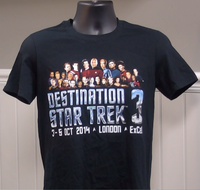 200377 - Star Trek Key Characters 2013 Convention Official T Shirt - All Sizes - Treasure TV