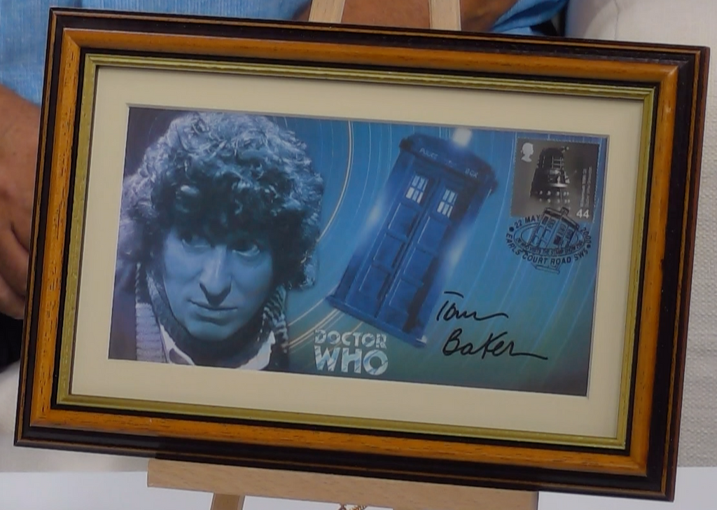 200168 - Dr Who Framed Daleks & Tardis Commemotaive Cover Personally Signed by Tom Baker - Treasure TV