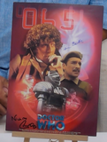 200172 - Tom Baker & Nicholas Courtney Personally Signed Dr Who Photo Card Print - Treasure TV