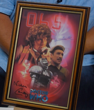 200183 - Dr Who Framed Celebration Print Pers. Signed By Tom Baker & Nicholas Courtney - Treasure TV