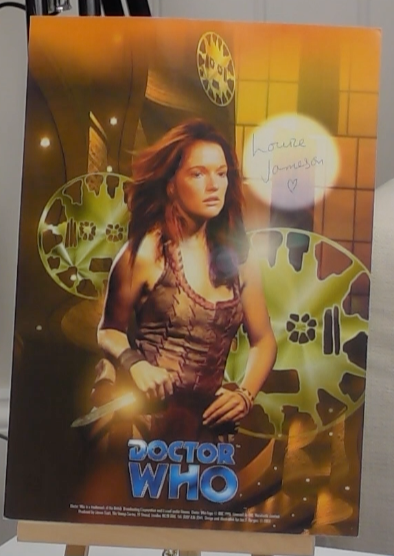 200185 - Louise Jamieson in Dr Who Photo Card Print Personally Signed - Treasure TV