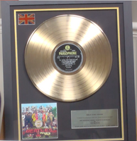 200285 - The Beatles - Sgt Peppers Framed & Mounted Gold Disc Ltd Edition of 250 only - Treasure TV